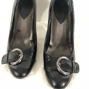 LINEA PAOLO Buckle Heels Pumps Patent Leather
